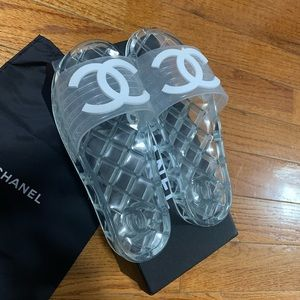 - Chanel jelly slides clear